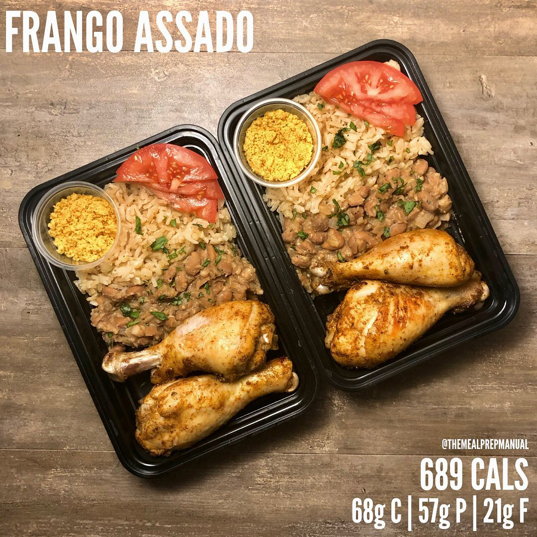 Frango Assado. When I lived in São Paulo I used to eat this meal almost every ni…