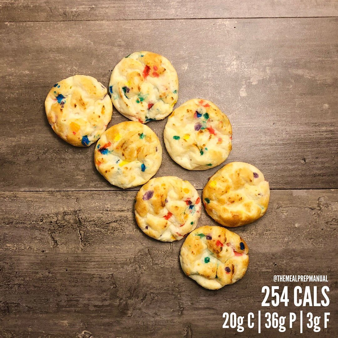 Funfetti Protein Cake Bites. Those of you who drink casein shakes know how unapp…