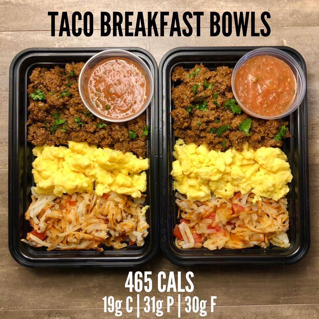 Taco Breakfast Bowls from Page 130 of The Meal Prep Manual-2nd Edition eBook. I …