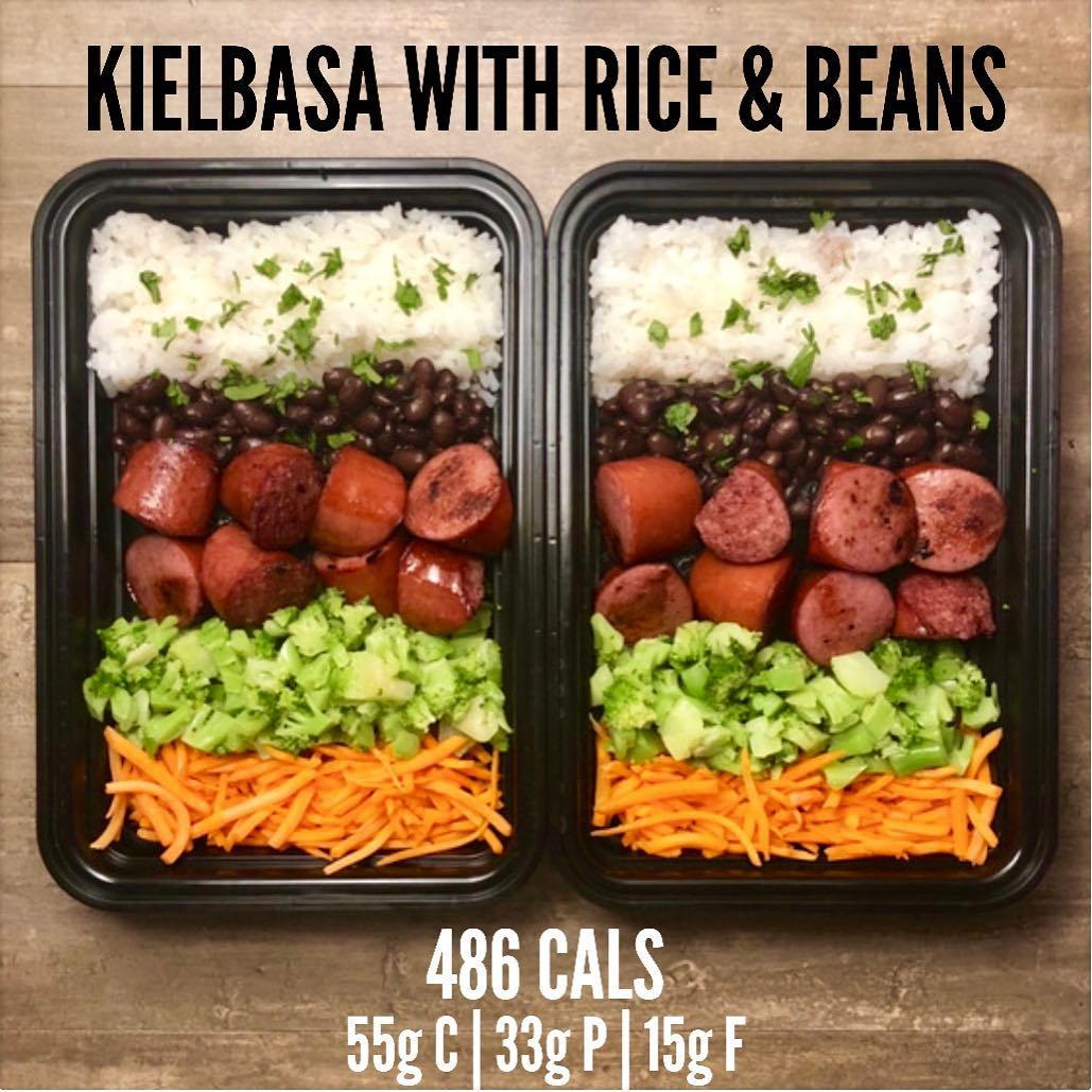 Kielbasa with Rice and Beans from Page 8 of The Meal Prep Manual-60 Minute Meals…